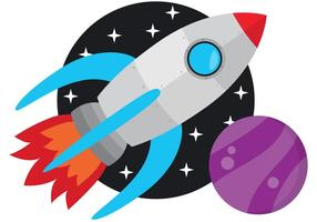 Vecteur de fusée spatiale