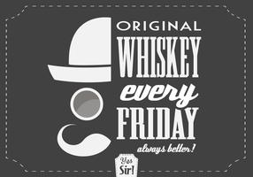 Hipster Whisky Vector Background