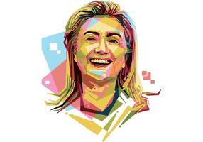 Portrait Hilary Clinton Vector gratuit