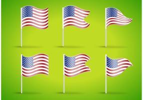 Vecteurs de drapeau américain vecteur