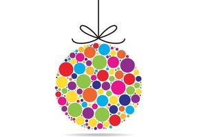 Vecteur coloré d'ornement de Noël