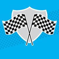 Vecteurs de drapeau de course vecteur