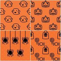 Motifs mignons d'Halloween vecteur