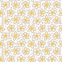 Motif Vecotr de fleurs polynésien gratuit vecteur