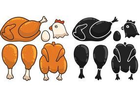 Vecteurs gratuits de poulet aux dessins animés vecteur
