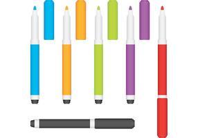 Marqueurs de stylo vecteur