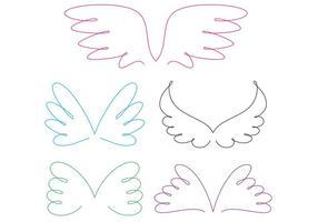 Vecteurs d'ailes d'anneaux bouclés vecteur