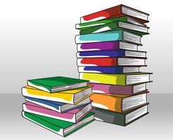 Vecteur de pile de livres