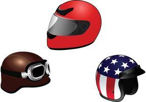 Pack de vecteur isolé casque de moto