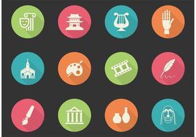 Icônes vectorielles des arts et de la culture gratuits vecteur