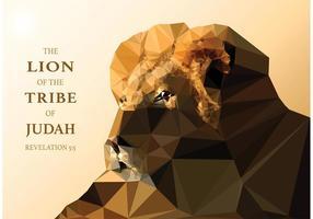 Papier peint polygonal Lion of Judah vecteur