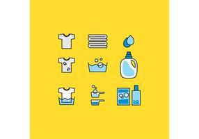 Icônes de vecteur de la lessive