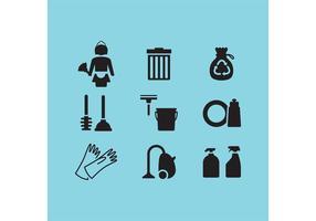 Nettoyage des icônes vectorielles vecteur