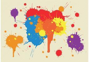 Éclaboussures de splatter vector