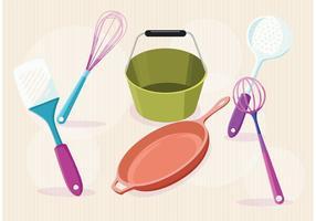 Articles modernes de vecteur de cuisine