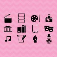 Icônes vectorielles des arts et de la culture vecteur