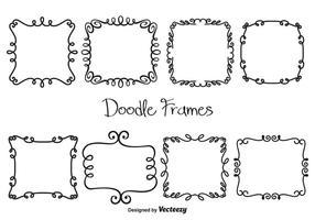 Cadres de doodle vectoriel