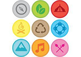 Patchs de décors de camping vectoriel