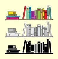 Pile de vecteur de livres