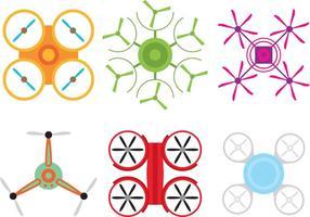 Vecteurs drone colorés vecteur