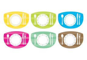 Table à manger colorée Set Vector Pack