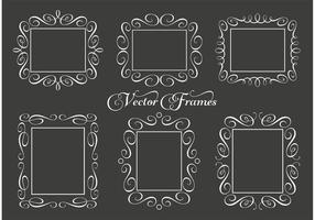 Cadres vectoriels décoratifs vecteur