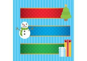 Bannières de Noël vecteur
