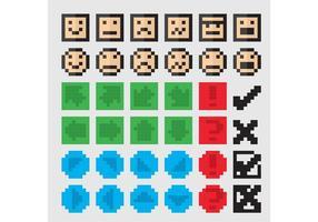 Icônes vectorielles 8 bits vecteur