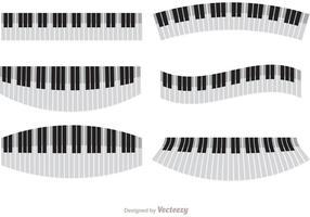 Pack de vecteurs de piano ondulé