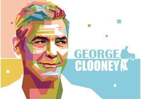 George Clooney Vector Portrait