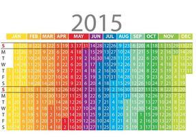 Rainbow Daily Planner Vector