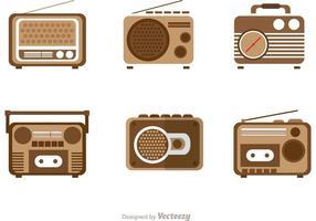Pack rétro des vecteurs radio vecteur