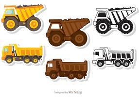 Ensemble de vecteurs de camions à benne basculante