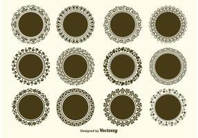 Vecteurs de cadre vectoriel décoratifs ronds