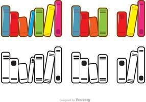 Ensemble de vecteurs de pile de livres