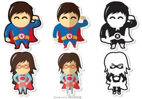 Paquet de vecteurs de super-héros vecteur
