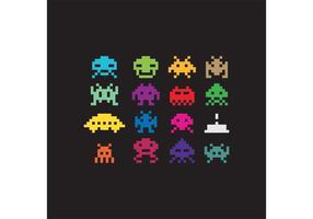 envahisseurs d'espace de vecteur de pixel
