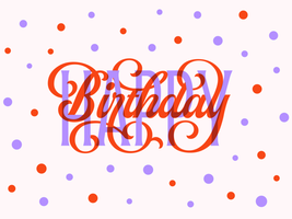 carte de typographie joyeux anniversaire