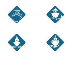 bateau de croisière diamant forme symbole vecteur
