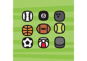 Icônes de balles de sport vecteur