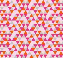 modèle sans couture triangle abstrait rouge et rose vif vecteur