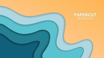 conception en couches de papier coloré