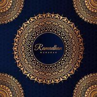 Élément graphique de mandala en or ramadan pour les vacances islamiques