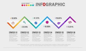modèle infographique de croissance des affaires coloré vecteur