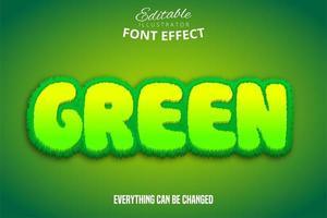 texte vert, effet de police modifiable