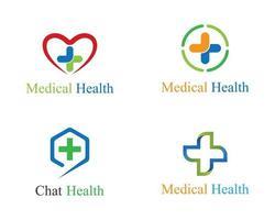 ensemble de modèles de logo médical vecteur