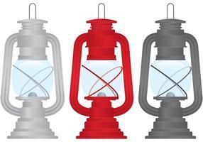 Vecteurs de lampes à gaz extérieurs vecteur