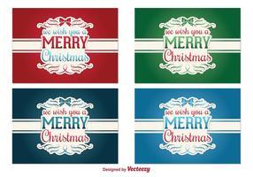 Étiquettes de vecteur de Noël