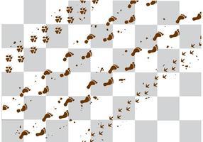 Vecteurs de traces en boue vecteur