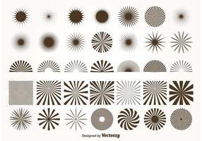 Formes de sunburst vector